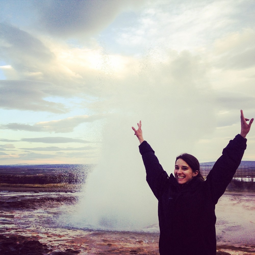 geyser iceland kasia kowalczyk z twins on tour
