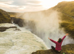 gulfoss kasia kowalczyk z twins on tour iceland