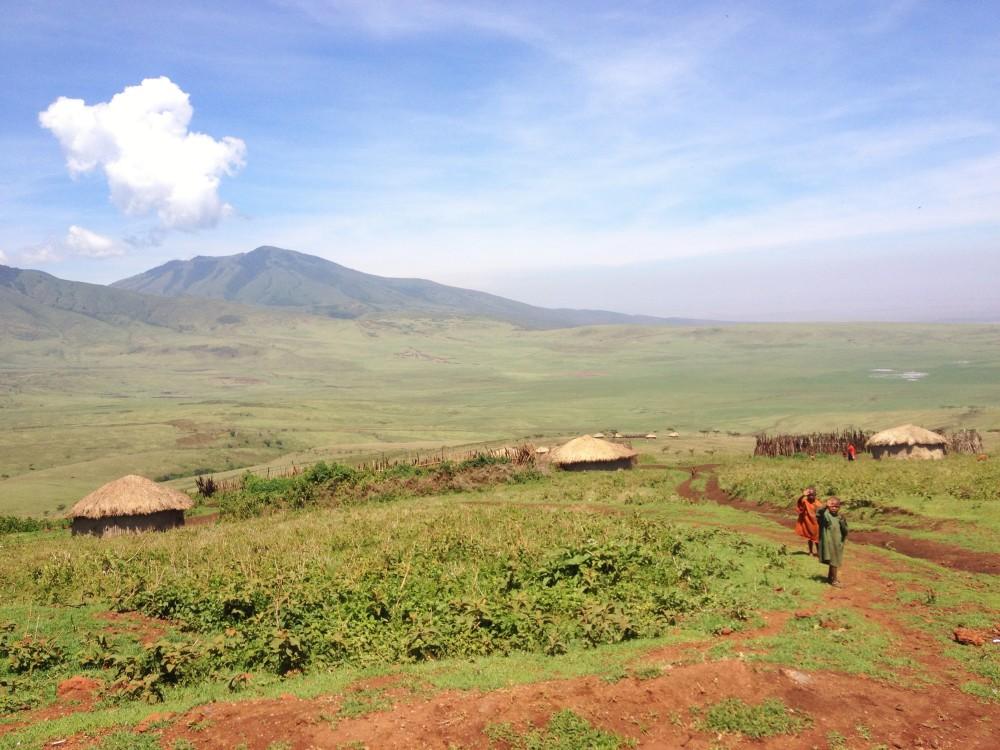masai village twins on tour