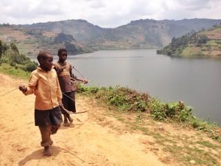 pygmies kids twins on tour