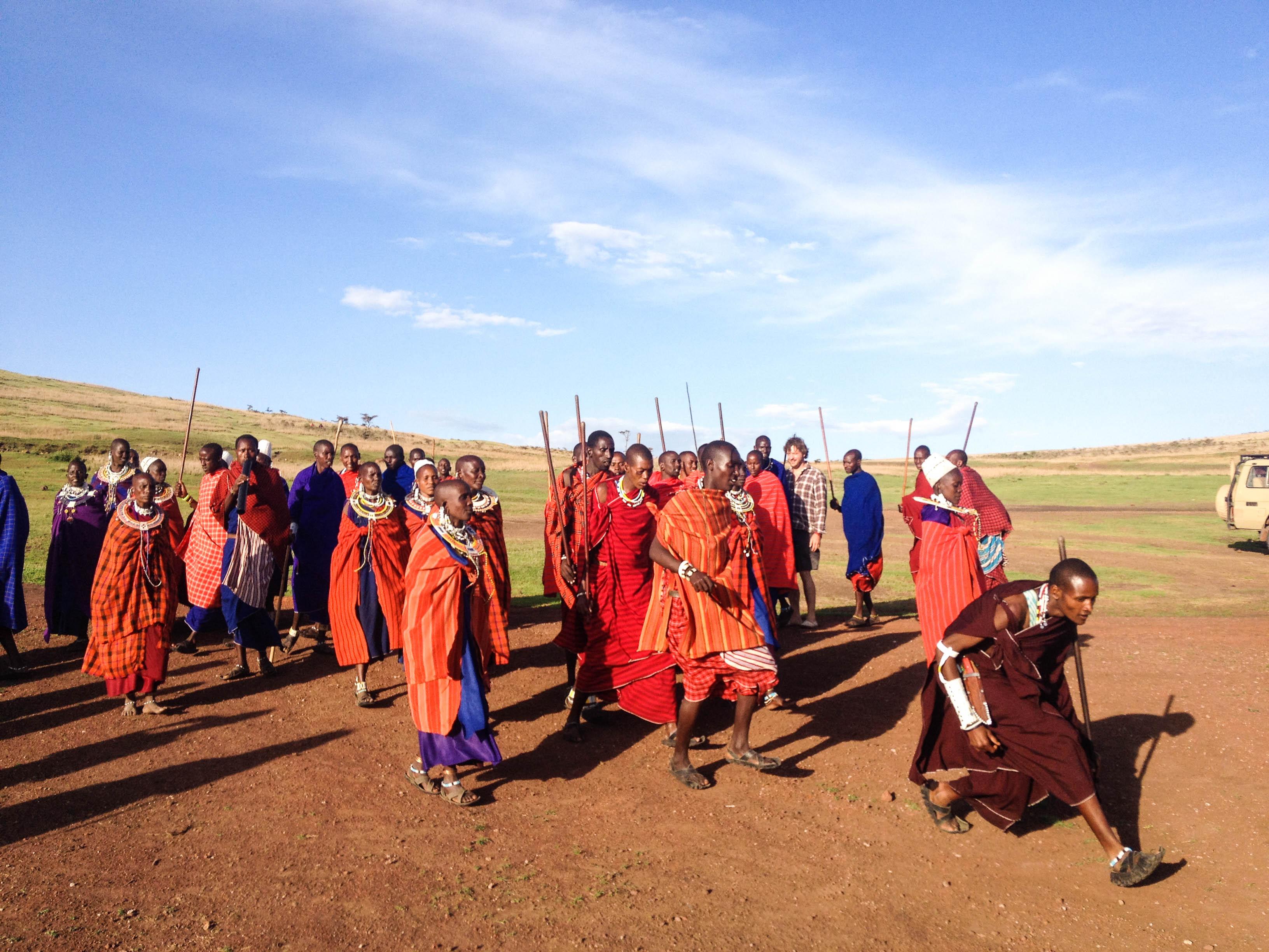 traditional masai dance twins on tour