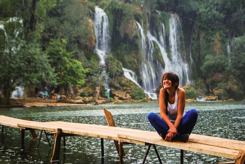 karolina kowalczyk twins on tour kravica waterflalls balcans