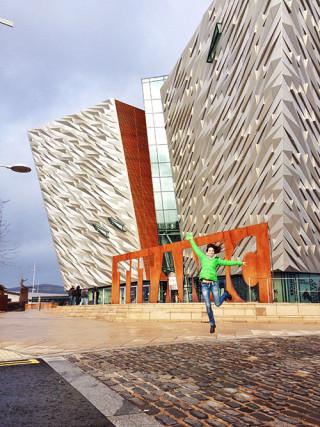 kasia kowalczyk titanic museum belfast ireland twins on tour