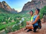 podroz twins on tour zion national park usa