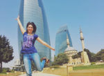 baku flame towers twins on tour meczet kasia podroz travel