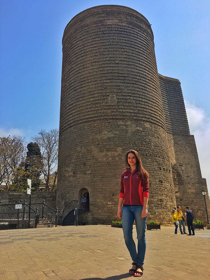 kasia twins on tour azerbejdzan podroz maiden tower